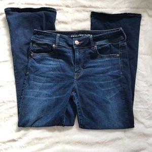 AE Bootcut Short Superstretch Dark Wash Jeans